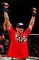 ATLANTIC CITY, NJ - JUNE 22:  Chris Camozzi celebrates his win by TKO (doctor stoppage) over Nick Catone (not pictured) in a middleweight bout during UFC on FX 4 at Revel Casino on June 22, 2012 in Atlantic City, New Jersey.  (Photo by Nick Laham/Zuffa LLC/Zuffa LLC)
