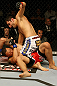 ATLANTIC CITY, NJ - JUNE 22: Ramsey Nijem (T) punches C.J. Keith (B) in a lightweight bout during UFC on FX 4 at Revel Casino on June 22, 2012 in Atlantic City, New Jersey. (Photo by Nick Laham/Zuffa LLC/Zuffa LLC)