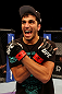 ATLANTIC CITY, NJ - JUNE 22:  Ramsey Nijem celebrates his TKO win over C.J. Keith (not pictured) in a lightweight bout during UFC on FX 4 at Revel Casino on June 22, 2012 in Atlantic City, New Jersey.  (Photo by Nick Laham/Zuffa LLC/Zuffa LLC)
