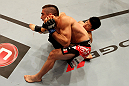 ATLANTIC CITY, NJ - JUNE 22:  Hatsu Hioki (B) grapples against Ricardo Lamas (T) in a featherweight bout during UFC on FX 4 at Revel Casino on June 22, 2012 in Atlantic City, New Jersey.  (Photo by Nick Laham/Zuffa LLC/Zuffa LLC)