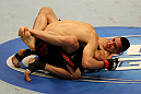 ATLANTIC CITY, NJ - JUNE 22: Hatsu Hioki (T) grapples against Ricardo Lamas (B) in a featherweight bout during UFC on FX 4 at Revel Casino on June 22, 2012 in Atlantic City, New Jersey. (Photo by Nick Laham/Zuffa LLC/Zuffa LLC)