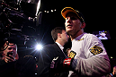ATLANTIC CITY, NJ - JUNE 22:  Gray Maynard (L) prepares to enter the octagon before the main event lightweight bout against Clay Guida (not pictured) during UFC on FX 4 at Revel Casino on June 22, 2012 in Atlantic City, New Jersey.  (Photo by Nick Laham/Zuffa LLC/Zuffa LLC)