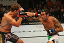 ATLANTIC CITY, NJ - JUNE 22: (L-R) Gray Maynard and Clay Guida exchange punches in the main event lightweight bout during UFC on FX 4 at Revel Casino on June 22, 2012 in Atlantic City, New Jersey.  (Photo by Nick Laham/Zuffa LLC/Zuffa LLC)
