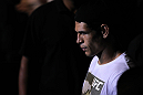 "BELO HORIZONTE, BRAZIL - JUNE 23:   Cezar ""Mutante"" Ferreira enters the arena before his UFC 147 middleweight bout against Sergio ""Serginho"" Moraes at Estadio Jornalista Felipe Drummond on June 23, 2012 in Belo Horizonte, Brazil.  (Photo by Josh Hedges/Zuffa LLC/Zuffa LLC via Getty Images)"