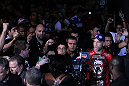BELO HORIZONTE, BRAZIL - JUNE 23:   Wanderlei Silva enters the arena before his UFC 147 bout against Rich Franklin at Estadio Jornalista Felipe Drummond on June 23, 2012 in Belo Horizonte, Brazil.  (Photo by Josh Hedges/Zuffa LLC/Zuffa LLC via Getty Images)