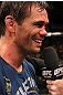 BELO HORIZONTE, BRAZIL - JUNE 23:   Rich Franklin is interviewed after defeating Wanderlei Silva during their UFC 147 catchweight bout at Estadio Jornalista Felipe Drummond on June 23, 2012 in Belo Horizonte, Brazil.  (Photo by Josh Hedges/Zuffa LLC/Zuffa LLC via Getty Images)