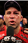 BELO HORIZONTE, BRAZIL - JUNE 23:   Wanderlei Silva is interviewed after his unanimous decision loss to Rich Franklin at Estadio Jornalista Felipe Drummond on June 23, 2012 in Belo Horizonte, Brazil.  (Photo by Josh Hedges/Zuffa LLC/Zuffa LLC via Getty Images)