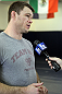 LAS VEGAS, NV - JUNE 26:   Forrest Griffin holds an open workout session for media ahead of his UFC 148 fight against Tito Ortiz at the Robert Drysdale Jiu Jitsu Gym on June 26, 2012 in Las Vegas, Nevada.  (Photo by Josh Hedges/Zuffa LLC/Zuffa LLC via Getty Images)