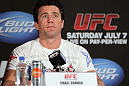 LAS VEGAS, NV - JULY 3:   Chael Sonnen attends the UFC 148 press conference at Lagasse&#39;s Stadium inside The Palazzo on July 3, 2012 in Las Vegas, Nevada.  (Photo by Josh Hedges/Zuffa LLC/Zuffa LLC via Getty Images)