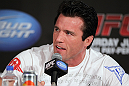 LAS VEGAS, NV - JULY 3:   Chael Sonnen attends the UFC 148 press conference at Lagasse's Stadium inside The Palazzo on July 3, 2012 in Las Vegas, Nevada.  (Photo by Josh Hedges/Zuffa LLC/Zuffa LLC via Getty Images)