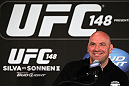 LAS VEGAS, NV - JULY 3:   UFC President Dana White attends the UFC 148 press conference at Lagasse's Stadium inside The Palazzo on July 3, 2012 in Las Vegas, Nevada.  (Photo by Josh Hedges/Zuffa LLC/Zuffa LLC via Getty Images)