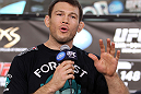 LAS VEGAS, NV - JULY 5:   Forrest Griffin attends a pre-fight news conference before the UFC 148 Open Workouts inside XS nightclub at the Encore on July 5, 2012 in Las Vegas, Nevada.  (Photo by Josh Hedges/Zuffa LLC/Zuffa LLC via Getty Images)