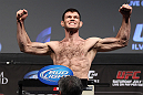 LAS VEGAS, NV - JULY 6:   Forrest Griffin makes weight during the UFC 148 Weigh In at the Mandalay Bay Events Center on July 6, 2012 in Las Vegas, Nevada.  (Photo by Josh Hedges/Zuffa LLC/Zuffa LLC via Getty Images)