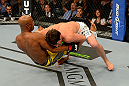 LAS VEGAS, NV - JULY 7:   (R-L) Chael Sonnen wrestles Anderson Silva during their UFC middleweight championship bout at UFC 148 inside MGM Grand Garden Arena on July 7, 2012 in Las Vegas, Nevada.  (Photo by Donald Miralle/Zuffa LLC/Zuffa LLC via Getty Images)  *** Local Caption *** Anderson Silva; Chael Sonnen