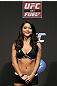 SAN JOSE, CA - JULY 10:   UFC Octagon Girl Arianny Celeste stands on stand during the UFC on Fuel TV weigh in at HP Pavilion on July 10, 2012 in San Jose, California.  (Photo by Josh Hedges/Zuffa LLC/Zuffa LLC via Getty Images)
