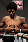 SAN JOSE, CA - JULY 10:   Alex Caceres makes weight during the UFC on Fuel TV weigh in at HP Pavilion on July 10, 2012 in San Jose, California.  (Photo by Josh Hedges/Zuffa LLC/Zuffa LLC via Getty Images)
