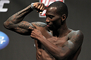 SAN JOSE, CA - JULY 10:   Anthony Njokuani makes weight during the UFC on Fuel TV weigh in at HP Pavilion on July 10, 2012 in San Jose, California.  (Photo by Josh Hedges/Zuffa LLC/Zuffa LLC via Getty Images)