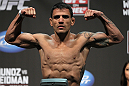 SAN JOSE, CA - JULY 10:   Rafael Dos Anjos makes weight during the UFC on Fuel TV weigh in at HP Pavilion on July 10, 2012 in San Jose, California.  (Photo by Josh Hedges/Zuffa LLC/Zuffa LLC via Getty Images)