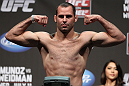 SAN JOSE, CA - JULY 10:   Kenny Robertson makes weight during the UFC on Fuel TV weigh in at HP Pavilion on July 10, 2012 in San Jose, California.  (Photo by Josh Hedges/Zuffa LLC/Zuffa LLC via Getty Images)