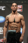 SAN JOSE, CA - JULY 10:   James Te Huna makes weight during the UFC on Fuel TV weigh in at HP Pavilion on July 10, 2012 in San Jose, California.  (Photo by Josh Hedges/Zuffa LLC/Zuffa LLC via Getty Images)