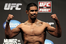 SAN JOSE, CA - JULY 10:   Mark Munoz makes weight during the UFC on Fuel TV weigh in at HP Pavilion on July 10, 2012 in San Jose, California.  (Photo by Josh Hedges/Zuffa LLC/Zuffa LLC via Getty Images)