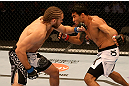 SAN JOSE, CA - JULY 11:   (L-R) Andrew Craig punches Rafael Natal during their middleweight bout at HP Pavilion on July 11, 2012 in San Jose, California.  (Photo by Ezra Shaw/Zuffa LLC/Zuffa LLC via Getty Images)  *** Local Caption *** Rafael Natal; Andrew Craig
