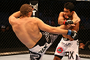 SAN JOSE, CA - JULY 11:   (L-R) Andrew Craig kicks Rafael Natal during their middleweight bout at HP Pavilion on July 11, 2012 in San Jose, California.  (Photo by Ezra Shaw/Zuffa LLC/Zuffa LLC via Getty Images)  *** Local Caption *** Rafael Natal; Andrew Craig