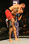 SAN JOSE, CA - JULY 11:   TJ Dillashaw (red shorts) attempts to submit Vaughan Lee during their bantamweight bout at HP Pavilion on July 11, 2012 in San Jose, California.  (Photo by Ezra Shaw/Zuffa LLC/Zuffa LLC via Getty Images)  *** Local Caption *** T.J. Dillashaw; Vaughn Lee
