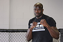 CALGARY, CANADA - JULY 18: Cheick Kongo works out for the fans and media during the UFC 149 Open Workouts inside Champion's Creed Gym on July 18, 2012 in Calgary, Alberta.  (Photo by Jeff Bottari/Zuffa LLC/Zuffa LLC via Getty Images)