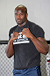 CALGARY, CANADA - JULY 18: Cheick Kongo works out for the fans and media during the UFC 149 Open Workouts inside Champion's Creed Gym on July 18, 2012 in Calgary, Alberta, Canada  (Photo by Jeff Bottari/Zuffa LLC/Zuffa LLC via Getty Images)