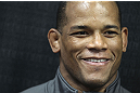 CALGARY, CANADA - JULY 18: Hector Lombard speaks to the media during the UFC 149 Open Workouts inside Champion's Creed Gym on July 18, 2012 in Calgary, Alberta, Canada.  (Photo by Jeff Bottari/Zuffa LLC/Zuffa LLC via Getty Images)