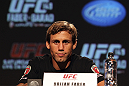 CALGARY, CANADA - JULY 19: Urijah Faber attends the UFC 149 press conference at the Flames Central Sports Club on July 19, 2012 in Calgary, Alberta, Canada. (Photo by Jeff Bottari/Zuffa LLC/Zuffa LLC via Getty Images)