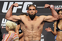 CALGARY, CANADA - JULY 20:  Court McGee makes weight at the UFC 149 weigh-in at the Scotiabank Saddledome on July 20, 2012 in Calgary, Alberta, Canada.  (Photo by Jeff Bottari/Zuffa LLC/Zuffa LLC via Getty Images)