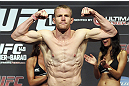 CALGARY, CANADA - JULY 20: James Head makes weight at the UFC 149 weigh-in at the Scotiabank Saddledome on July 20, 2012 in Calgary, Alberta, Canada.  (Photo by Jeff Bottari/Zuffa LLC/Zuffa LLC via Getty Images)