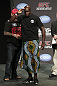 CALGARY, CANADA - JULY 20:  Cheick Kongo salutes the crowd prior to weighing in at the UFC 149 weigh-in at the Scotiabank Saddledome on July 20, 2012 in Calgary, Alberta, Canada.  (Photo by Jeff Bottari/Zuffa LLC/Zuffa LLC via Getty Images)