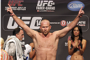 CALGARY, CANADA - JULY 20: Tim Boetsch makes weight at the UFC 149 weigh-in at the Scotiabank Saddledome on July 20, 2012 in Calgary, Alberta, Canada.  (Photo by Jeff Bottari/Zuffa LLC/Zuffa LLC via Getty Images)