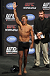 CALGARY, CANADA - JULY 20: Urijah Faber waves to the crowd prior to making weight at the UFC 149 weigh-in at the Scotiabank Saddledome on July 20, 2012 in Calgary, Alberta, Canada.  (Photo by Jeff Bottari/Zuffa LLC/Zuffa LLC via Getty Images)