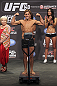 CALGARY, CANADA - JULY 20: Urijah Faber makes weight at the UFC 149 weigh-in at the Scotiabank Saddledome on July 20, 2012 in Calgary, Alberta, Canada.  (Photo by Jeff Bottari/Zuffa LLC/Zuffa LLC via Getty Images)