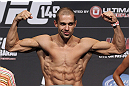 CALGARY, CANADA - JULY 20: Anton Kuivanen makes weight at the UFC 149 weigh-in at the Scotiabank Saddledome on July 20, 2012 in Calgary, Alberta, Canada.  (Photo by Jeff Bottari/Zuffa LLC/Zuffa LLC via Getty Images)