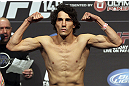 CALGARY, CANADA - JULY 20: Roland Delorme weighs in at the UFC 149 weigh-in at the Scotiabank Saddledome on July 20, 2012 in Calgary, Alberta, Canada.  (Photo by Jeff Bottari/Zuffa LLC/Zuffa LLC via Getty Images)