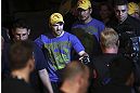 CALGARY, CANADA - JULY 21:  Bryan Caraway walks to the octagon to face Mitch Gagnon for their bantamweight bout at UFC 149 inside the Scotiabank Saddledome on July 21, 2012 in Calgary, Alberta, Canada.  (Photo by Nick Laham/Zuffa LLC/Zuffa LLC via Getty Images)