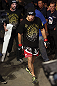 CALGARY, CANADA - JULY 21:  Chris Clements approaches the Octagon prior to facing Matthew Riddle during their welterweight bout at UFC 149 inside the Scotiabank Saddledome on July 21, 2012 in Calgary, Alberta, Canada.  (Photo by Nick Laham/Zuffa LLC/Zuffa LLC via Getty Images)
