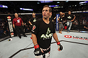 CALGARY, CANADA - JULY 21:  Urijah Faber looks to the crowd after being defeated by Renan Barao during their UFC interim bantamweight championship bout at UFC 149 inside the Scotiabank Saddledome on July 21, 2012 in Calgary, Alberta, Canada.  (Photo by Nick Laham/Zuffa LLC/Zuffa LLC via Getty Images)