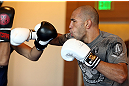 LOS ANGELES - AUGUST 01:  Brandon Vera works out for the media during the UFC on FOX open workouts at the J.W. Marriott on August 1, 2012 in Los Angeles, California. (Photo by Josh Hedges/Zuffa LLC/Zuffa LLC via Getty Images)