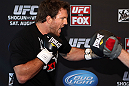 LOS ANGELES - AUGUST 01:  Ryan Bader works out for the media during the UFC on FOX open workouts at the J.W. Marriott on August 1, 2012 in Los Angeles, California. (Photo by Josh Hedges/Zuffa LLC/Zuffa LLC via Getty Images)