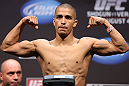 LOS ANGELES - AUGUST 03: John Moraga makes weight during the UFC on FOX weigh in at Staples Center on August 3, 2012 in Los Angeles, California. (Photo by Josh Hedges/Zuffa LLC/Zuffa LLC via Getty Images)
