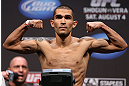 LOS ANGELES - AUGUST 03: Ulysses Gomez makes weight during the UFC on FOX weigh in at Staples Center on August 3, 2012 in Los Angeles, California. (Photo by Josh Hedges/Zuffa LLC/Zuffa LLC via Getty Images)