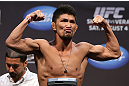 LOS ANGELES - AUGUST 03: Michihiro Omigawa makes weight during the UFC on FOX weigh in at Staples Center on August 3, 2012 in Los Angeles, California. (Photo by Josh Hedges/Zuffa LLC/Zuffa LLC via Getty Images)