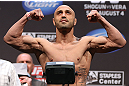 LOS ANGELES - AUGUST 03: Manny Gamburyan makes weight during the UFC on FOX weigh in at Staples Center on August 3, 2012 in Los Angeles, California. (Photo by Josh Hedges/Zuffa LLC/Zuffa LLC via Getty Images)