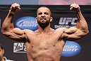 LOS ANGELES - AUGUST 03: Oli Thompson makes weight during the UFC on FOX weigh in at Staples Center on August 3, 2012 in Los Angeles, California. (Photo by Josh Hedges/Zuffa LLC/Zuffa LLC via Getty Images)
